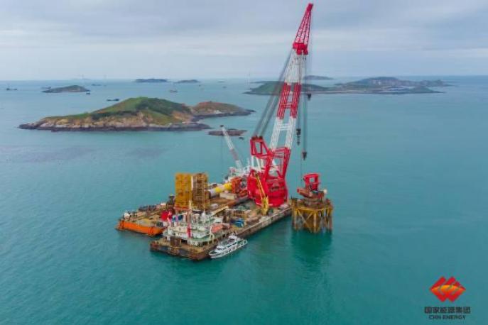 国家能源集团建成世界首个海上深水裸岩单桩基础